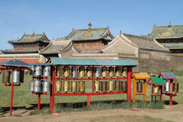 Moulins à prière du monastère d'Erdene Zuu