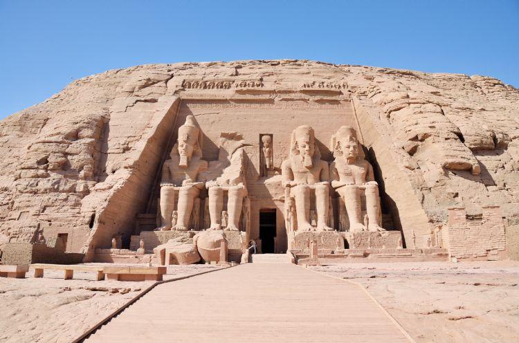 Grand temple d'Abou Simbel en Egypte