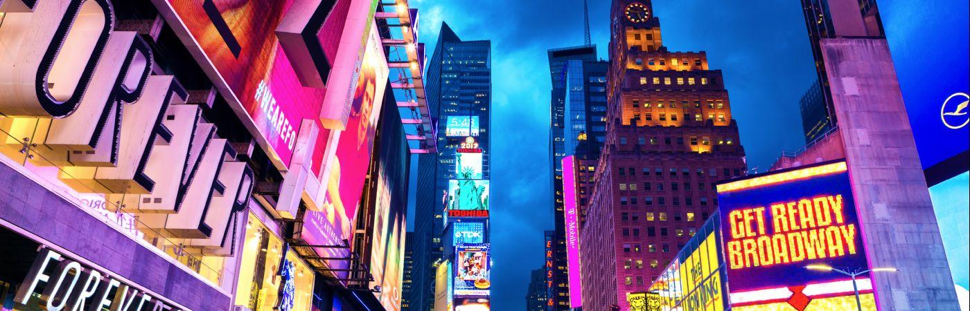 7e Avenue près de Times Square à Manhattan