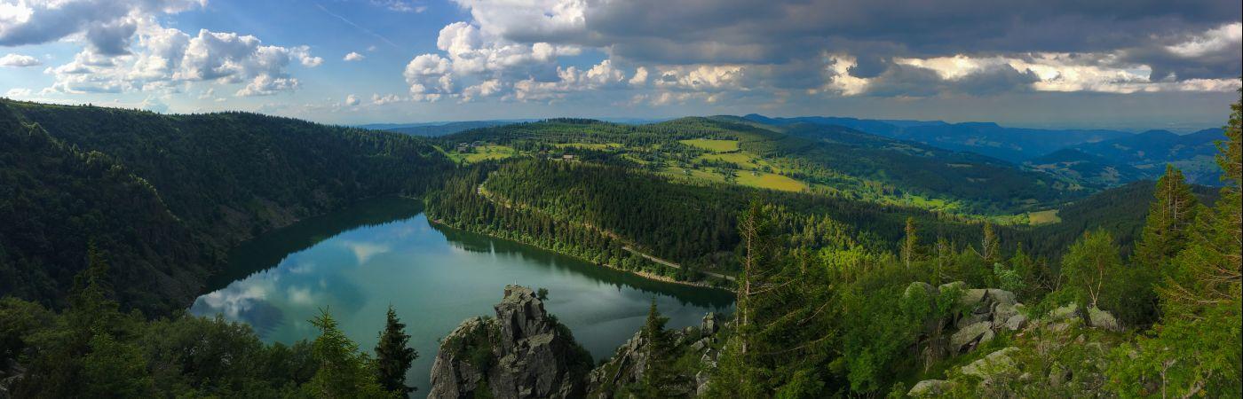 Lac Blanc vu des crêtes des Vosges