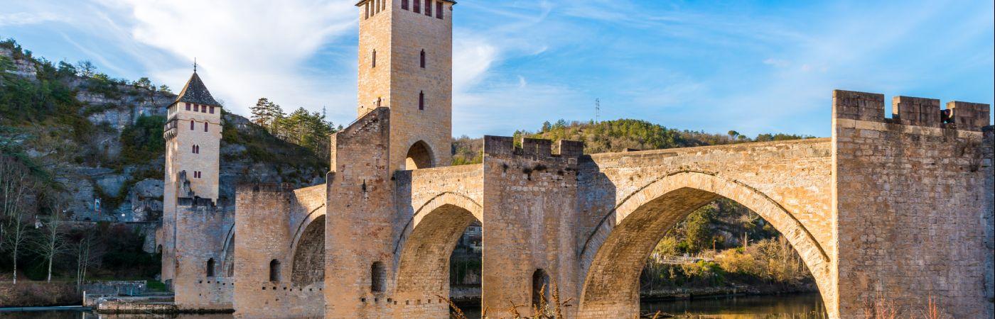 Pont Valentré sur le Lot à Cahors, Occitanie, France